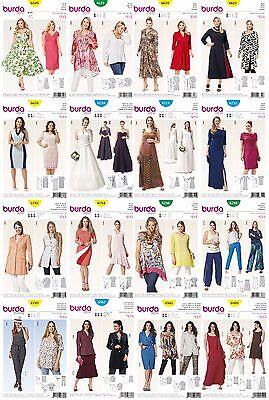 - Burda Sewing Patterns Women's Large Sizes Plus Wardrobe Dresses Tops Pants Skirt