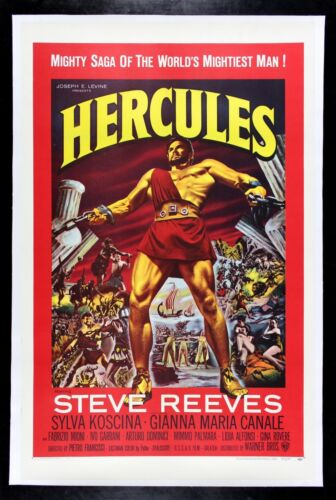 HERCULES ✯ CineMasterpieces STRONG MAN POWER FIT FITNESS MALE MOVIE POSTER 1959