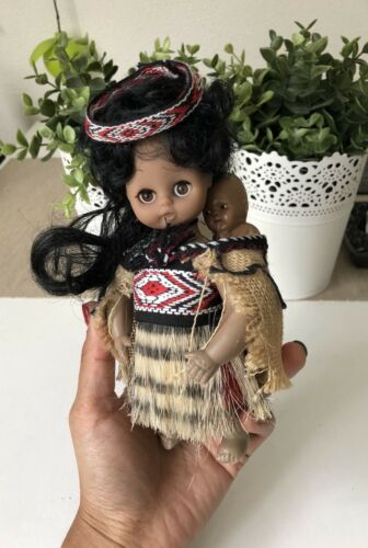 Maori Girl Soft Doll New Zealand Free Shipping!