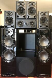 7.1ch Wharfedale Home Theatre Speakers with Yamaha Sub & Aaron Centre