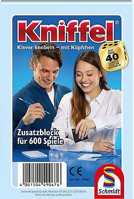SCHMIDT 49067 - KNIFFELBLOCK, FÜR 600 SPIELE, NEU/OVP online kaufen