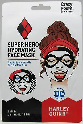 Bbw Harley Quinn (Harley Quinn Super Hero Hydrating Face Mask by Crazy Foam Bath & Body DC)