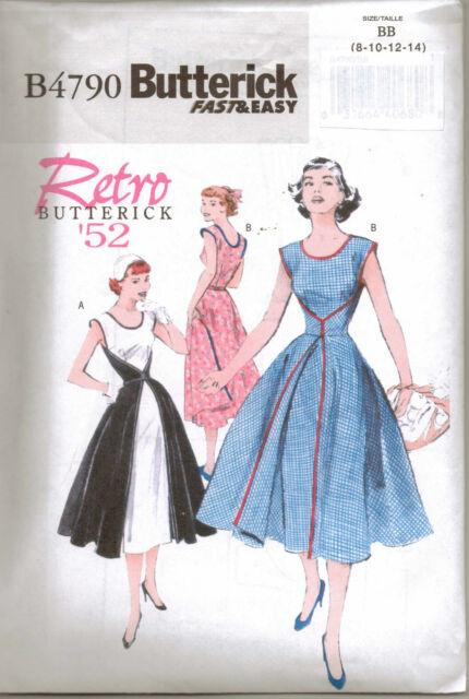 Butterick Sewing Pattern B4790 Ladies Retro Wrap Dress Sizes 8 - 14 ...