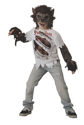 Werewolf Child Costume Boys Kids Monster Mask Shirt Wolf Beast Halloween