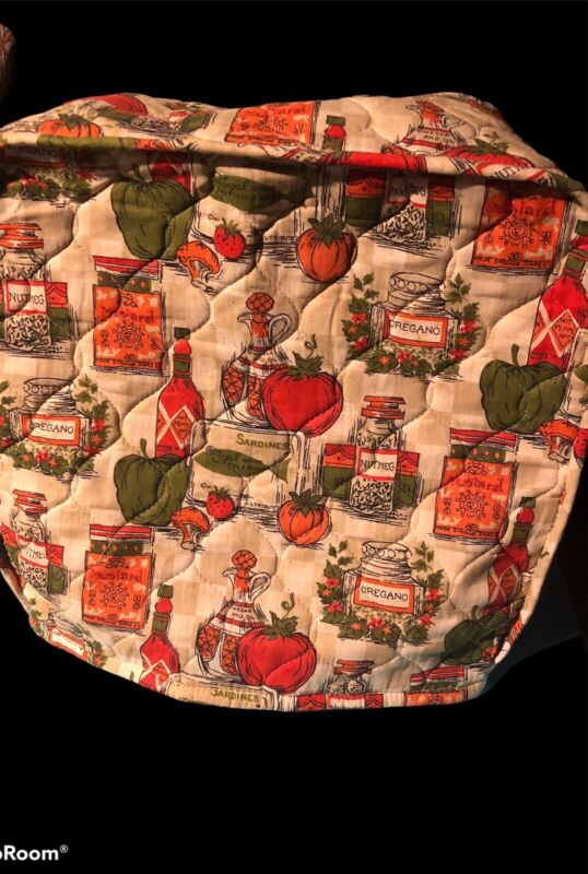 Vintage Quilted  Appliance / Toaster Cover , Spices