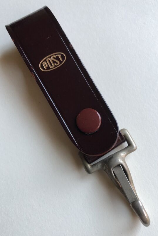Vintage POST Leather Slide Rule Case Strap Clasp Clip Snap