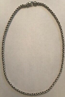 "1930s Art Deco Style Jewelry 1930'S BASTIAN BROTHERS NEW YORK STERLING/18K TWISTED 16"" 3MM NECKLACE $125.00 AT vintagedancer.com"