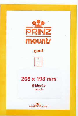 Prinz Scott Stamp Mount 198/265 BLACK Background Pack of 5