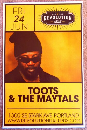 TOOTS AND THE MAYTALS 2016 Gig POSTER Portland Oregon Concert