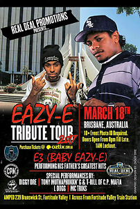 Eazy-e tribute show Brisbane 18th March Mudgeeraba Gold Coast South Preview