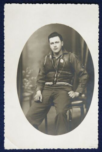 RPPC, WWII Tech. Corporal Army Air Corps Wearing Vest From Cut-Down Jacket