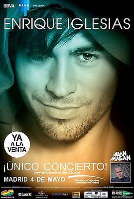 ENRIQUE IGLESIAS/JUAN MAGAN 2012 SPAIN CONCERT TOUR POSTER-Latin/Dance Pop Music