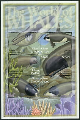GHANA - 2001 'WHALES OF THE WORLD' Miniature Sheet MNH [A7231]