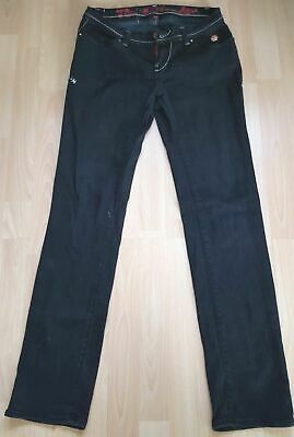 Apple Bottoms Jeans By Nelly Denim Rapper Premium Black Size 7/8 W28 L32