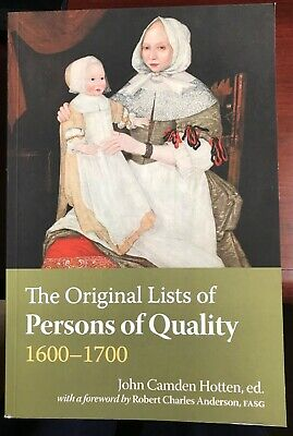 The Original Lists of Persons of Quality 1600-1700