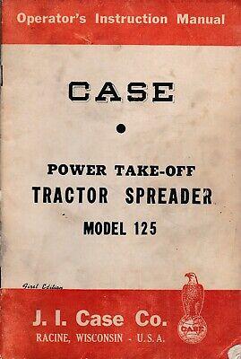 Case Pto Tractor Spreader Model 125 Operators Manual