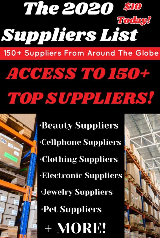 150+ Supplier List For Your Dropshipping Business