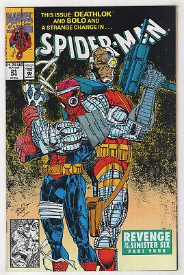 Spider-Man #21 (Apr 1992, Marvel) Revenge of the Sinister Six [Deathlok] (Spider Man Revenge Of The Sinister Six)