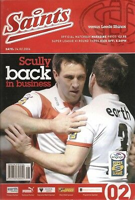 St Helens v Leeds - Super League 2006 (February)