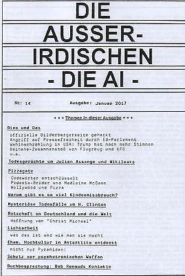 DIE AUSSERIDISCHEN - HEFT 14 - Magazin von Eva Groenke / Pizzagate / Trump etc.