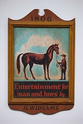 An H. Williams Vintage Equestrian Trade Sign