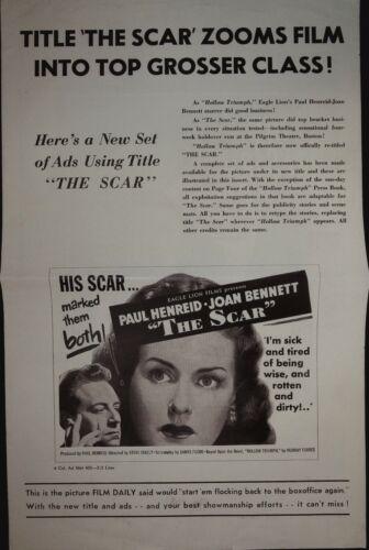 The Scar Pressbook 1949 Paul Henreid, Joan Bennett