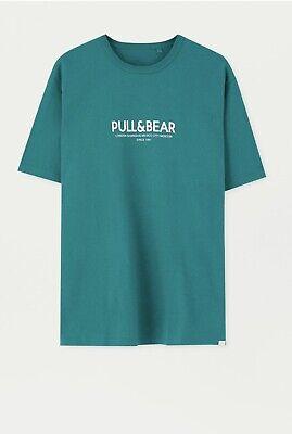 Pull and Bear Men's T-shirt - XXL - Green - BNWT