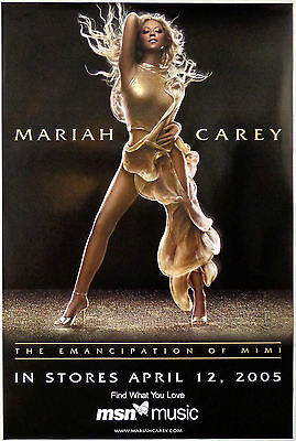 MARIAH CAREY  -  THE EMANCIPATION OF MIMI  -  ORIGINAL PROMOTIONAL POSTER (2005)
