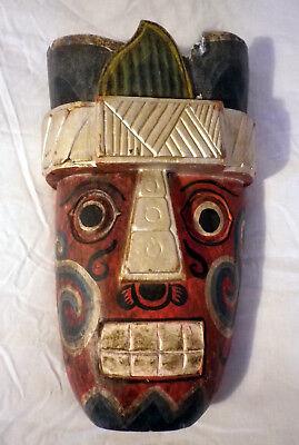 Vintage Primitive Ethnic Art Mask Hand Carved Indian?