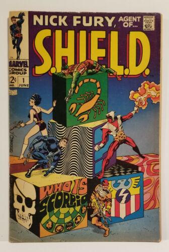 Nick Fury Agent of Shield # 1, 1st Scorpio, (Marvel 1968)