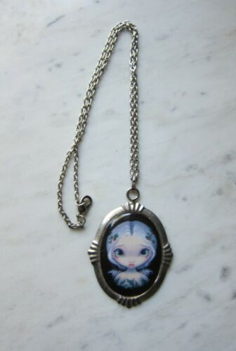 Jasmine Becket-Griffith Strangeling Fairy Porcelain Cameo Pendant Necklace