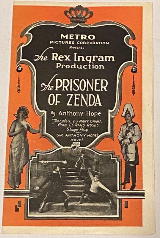 RAMON NOVARRO - Vintage 1922 THE PRISONER OF ZENDA Silent Film MOVIE HERALD