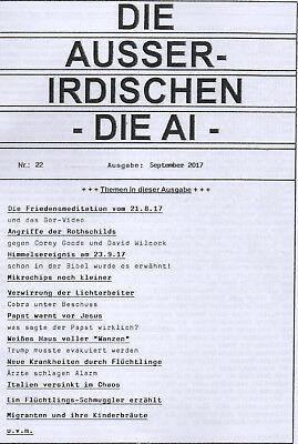 DIE AUSSERIDISCHEN - HEFT 22 - Magazin von Eva Groenke / Friedensmeditation etc.