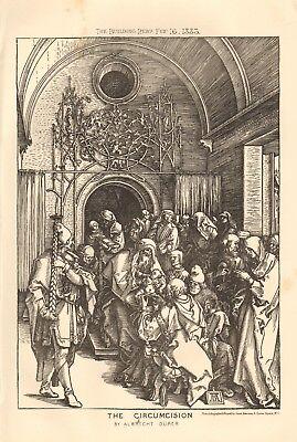 1883 ANTIQUE ARCHITECTURE, DESIGN PRINT- THE CIRCUMCISION BY ALBRECHT DURER