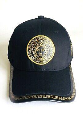 New Versace Black Medusa Logo Ajustable Baseball Cap