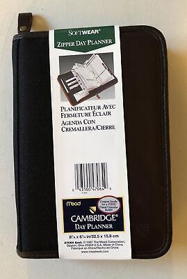 Mead Cambridge Softwear Personal Zipper Day Planner 8 78 X 6 14 Black