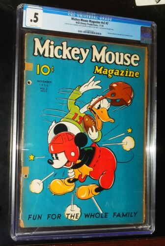 MICKEY MOUSE MAGAZINE #v2 #2 1936 Walt Disney Productions Comics CGC 0.5 PR