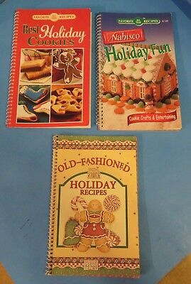 CHRISTMAS~3 Cookbooks DEBBIE MUMM, Nabisco Holiday Fun, Best Holiday