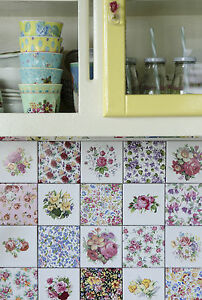 vintage floral ceramic wall tiles 1 tile