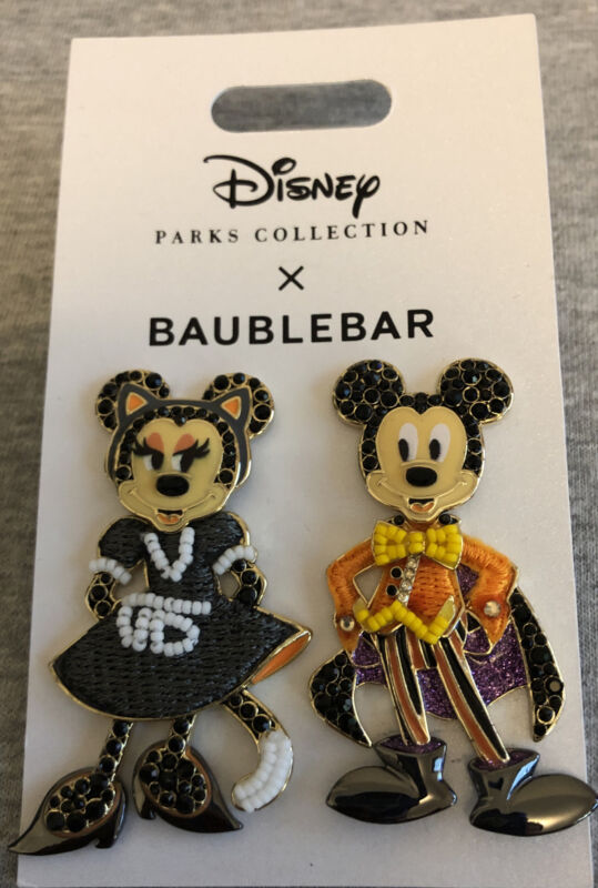 Disney Parks BaubleBar Mickey Minnie Halloween Pierced Earrings
