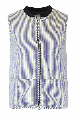 GANT RUGGER Men's Yale Blue Seersucker Vest 70207 Size M $145 NWT