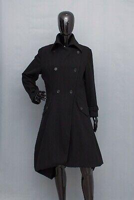 IVAN GRUNDAHL Wool Coat Long Jacket Asymmetric Balloon Skirt 38 UK12-14