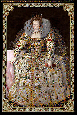 TUDOR  TAPESTRY / WALL HANGING / PANEL - DOLLS HOUSE - PICTURE NO.40