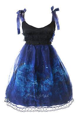JSK-40 Azul Medusa Mar Medusas Tirantes Vestido Lolita Cosplay Disfraz Kawaii