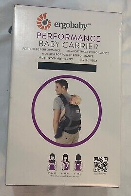 Ergobaby Ergo Baby Performance Baby Carrier Front Back Black/Charcoal