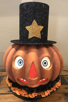 Bethany Lowe Halloween Mr. Pumpkin Lantern—Retired -Light Cord Included