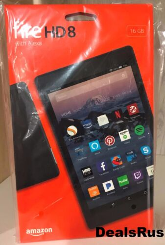Tablet - Amazon Kindle Fire HD 8 Tablet 16 GB 7th Generation 2017 LATEST Model Free Ship