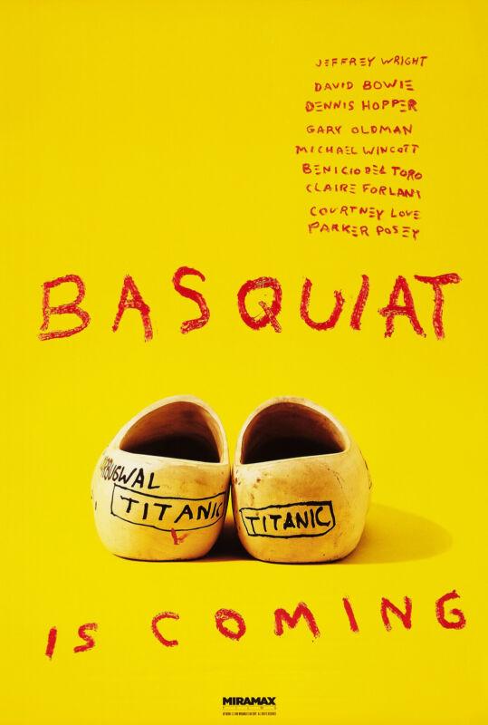 BASQUIAT (1996) ORIGINAL ADVANCE MOVIE POSTER  -  ROLLED