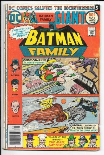 BATMAN FAMILY #6 --- 1ST APP JOKER