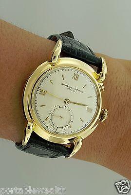 Vacheron & Constantin VC Wrist Watch 18K YG 17j 4361 Papers Fancy Lug